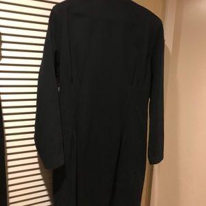Moniques Fashions Dresses - Black and Gold evening button up dress Vintage